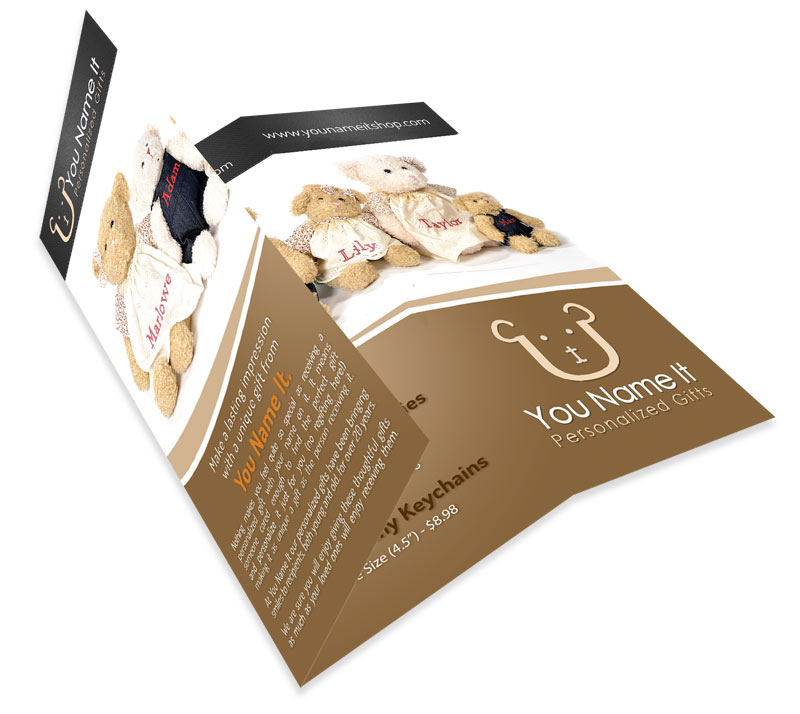 You Name It Personalized Gifts - Tri-fold Brochure